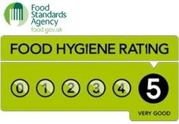 Rated 5 Very Good Food Hygiene